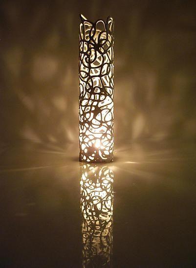 Curls Candle: Muhammad Moussa: Ceramic Candleholder - Artful Home