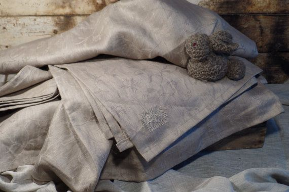 Linen throw Blanket Natural rustic style Bed cover Bed spread