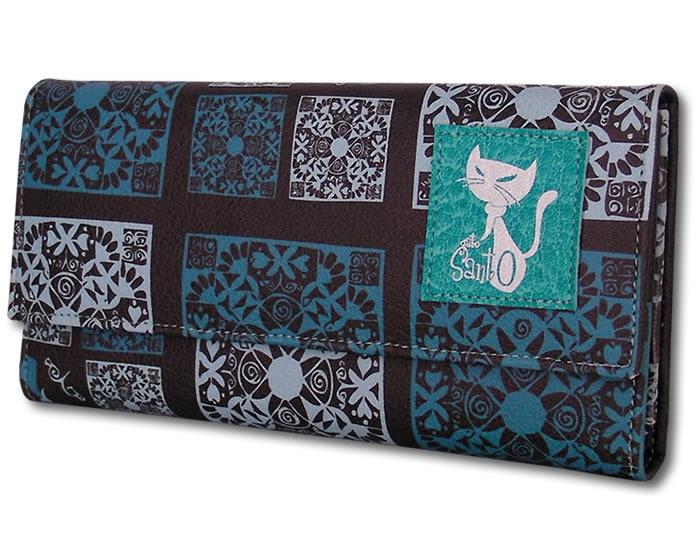 Billetera LOLA - Batik azul