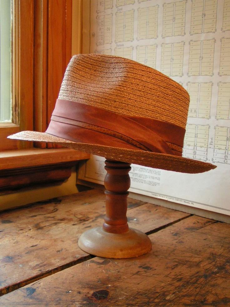 Сламена шапка тип Федора/ Mens Hat