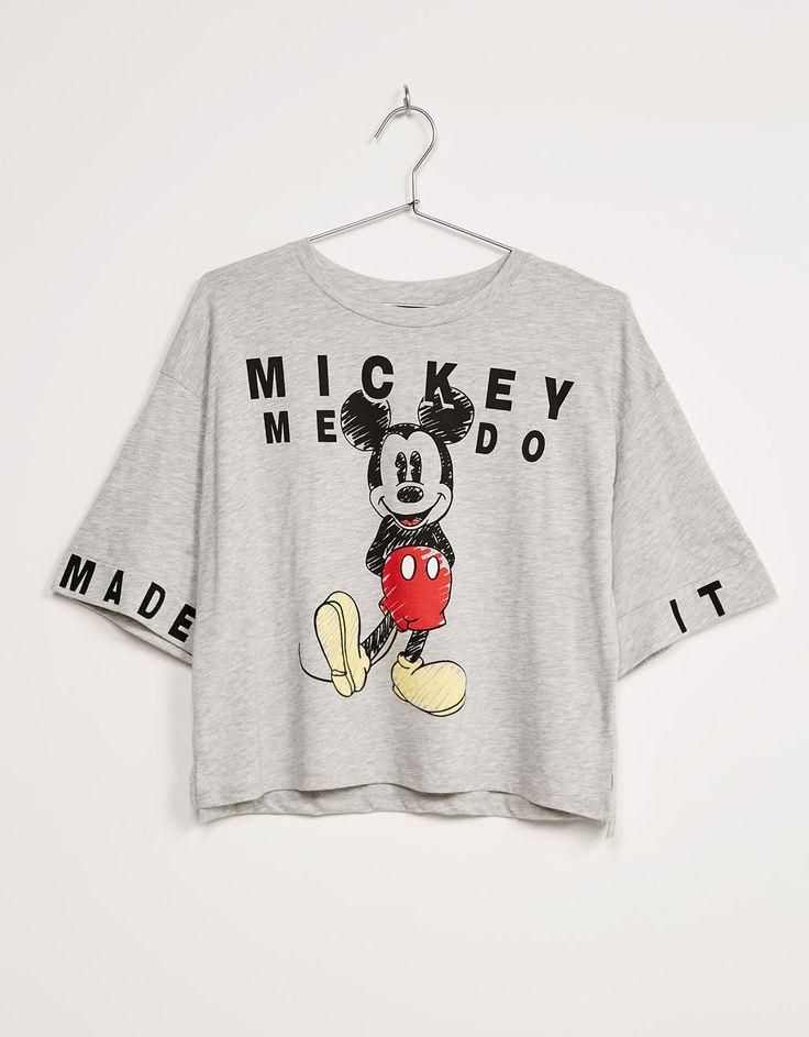 T-shirt BSK Mickey oversize - T-shirts - Bershka Portugal