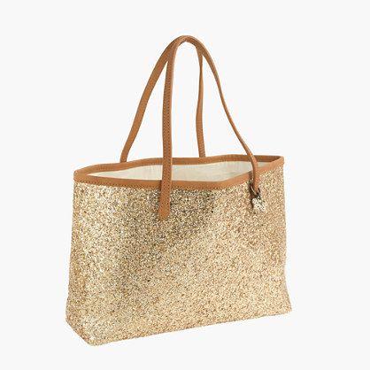 Girls' glitter tote : Glitter Bags | J.Crew