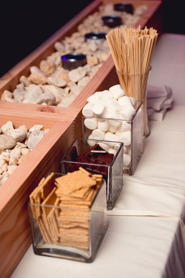 Smores Bar|Beautiful NY Fall Wedding| Photo by:Custom by Nicole Photography