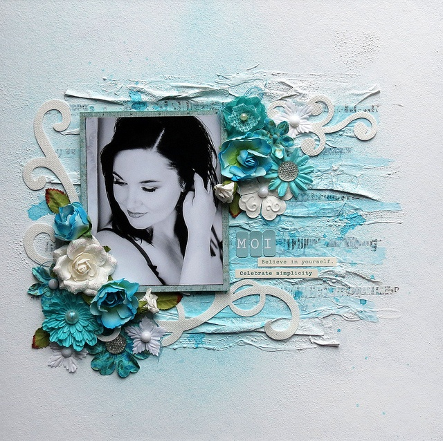 Moi - monochrome turquoise by marieetmichael, via Flickr