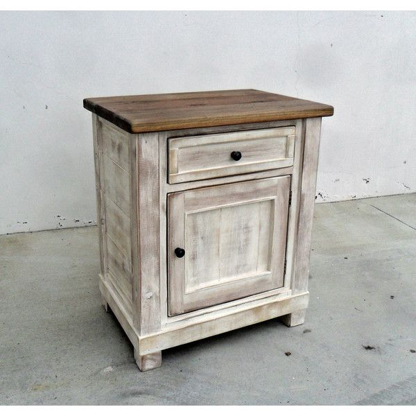 End Table Bedside Table Reclaimed Wood Rustic Vintage Bed