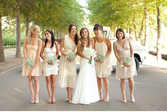 Cute and casual bridesmaids. Not too posey.