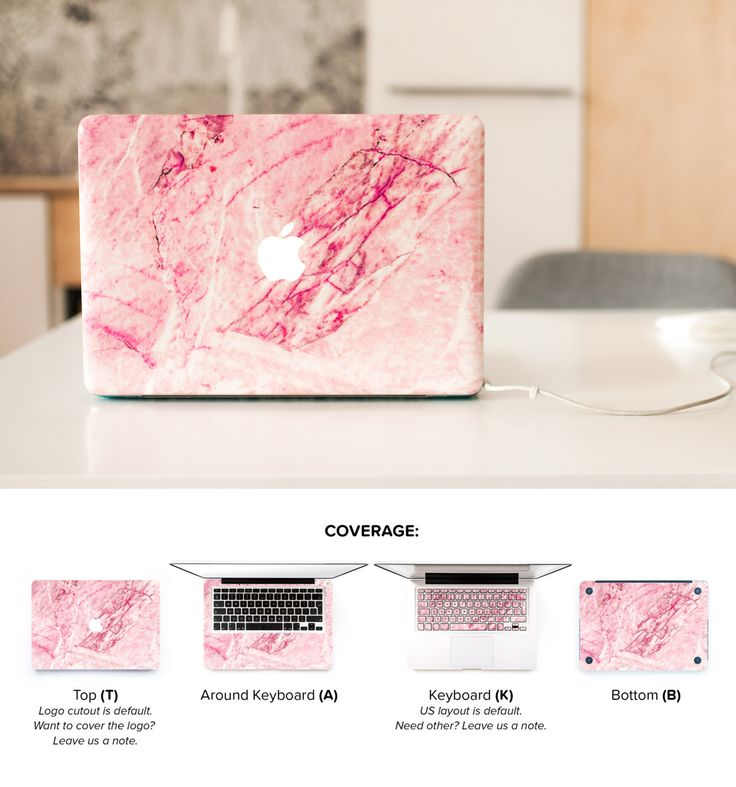 Macbook Skins with blush marble. Made to cover entire laptop area with lovely pink shade. Cutest designer Macbook Skin ever! #macbookskin #macbookmarble #skinmacbook #pinkmarble #marbleskin