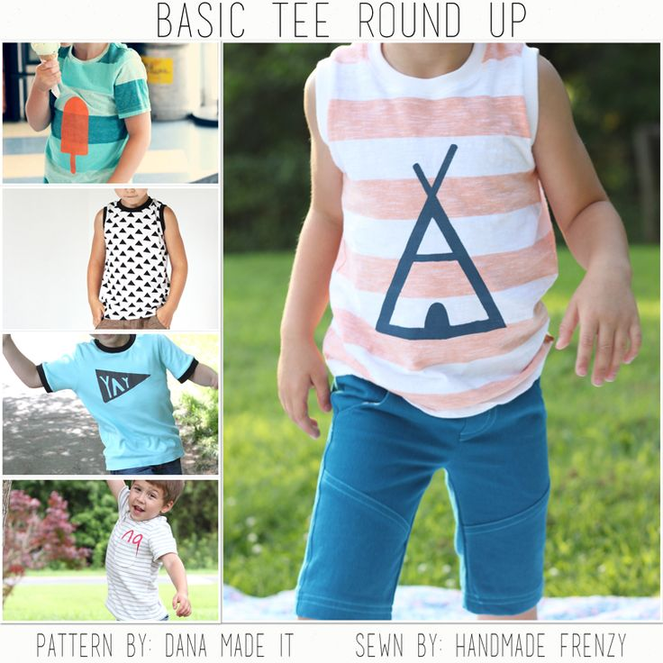 Handmade Frenzy: All About Boys: Free Pattern Edition // Basic Tee Roundup