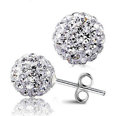diamantes de la moda pura plata redondo de color sólido dulce earrings_9250022 – CLP $ 1.879