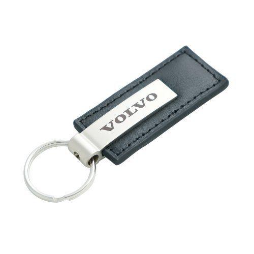 Genuine Black Leather Rectangular Silver Volvo Logo Key Chain Fob Ring, http://www.amazon.com/dp/B00JPFM298/ref=cm_sw_r_pi_awdm_daHCub12KQC2Y