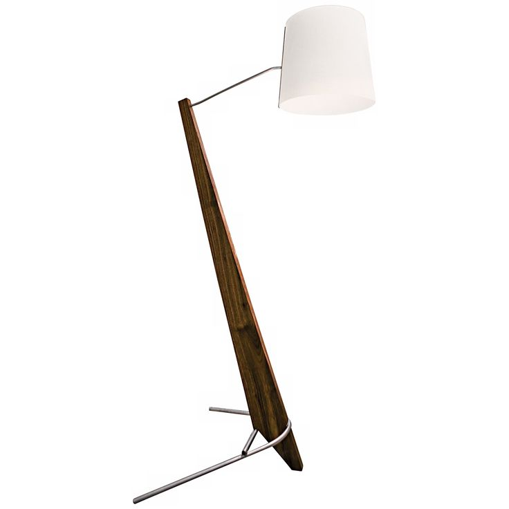 Cerno Giant Silva Oiled Walnut and White LED Floor Lamp - Style # X6763