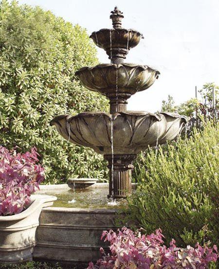 Spanish Founatins Cast Stone Garden Fountain Fountains Pinterest And