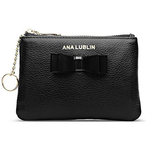 Price 12 98 Ana Lublin Leather Wallet Small Coin Purse Women Rfid Blocking Mini Money Pocket