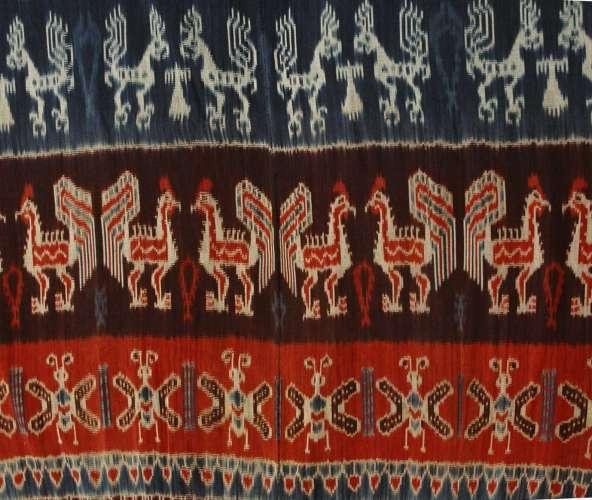 Ethnic Sumba Ikat Indigo & Terracota Combination