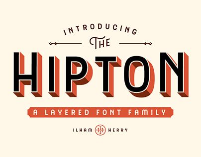 """Check out new work on my @Behance portfolio: """"The Hipton Font"""" http://be.net/gallery/35857389/The-Hipton-Font"""