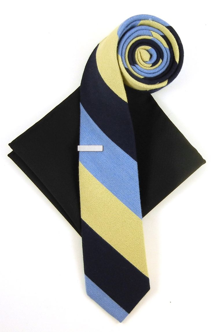 Lay on the GQ charm with this combo embodying two of our favorite fall items, a Big Wool Stripe tie (as seen in GQ Magazine) and a midnight navy herringbone square. www.TheTieBar.com