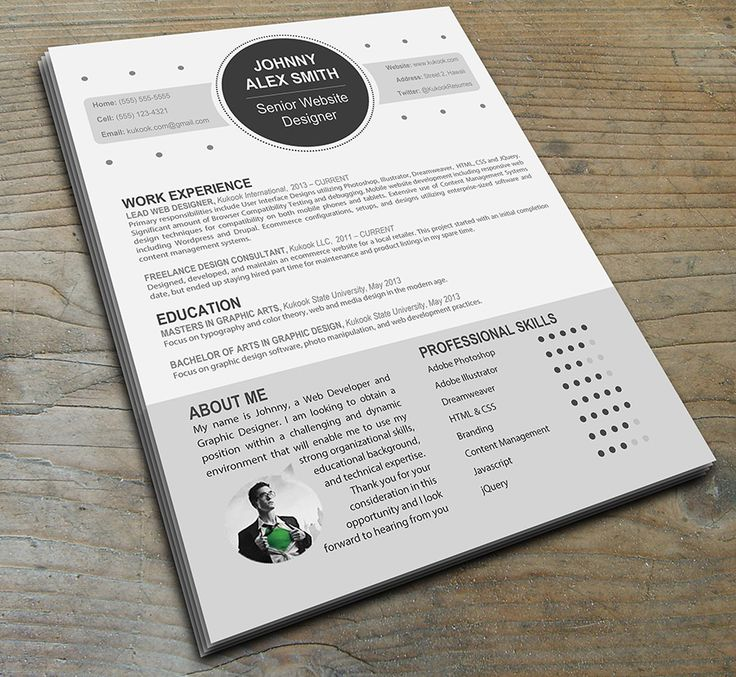 8 best professional resume templates word editable images on pinterest