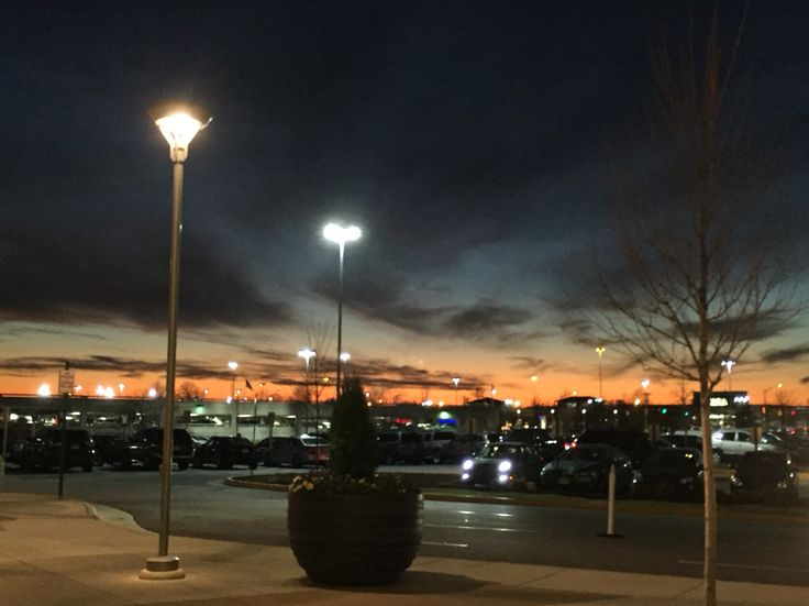 Sunset view at the mall