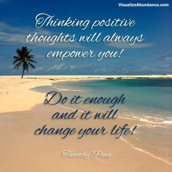 Think Positive Thoughts Quotes Images Pictures