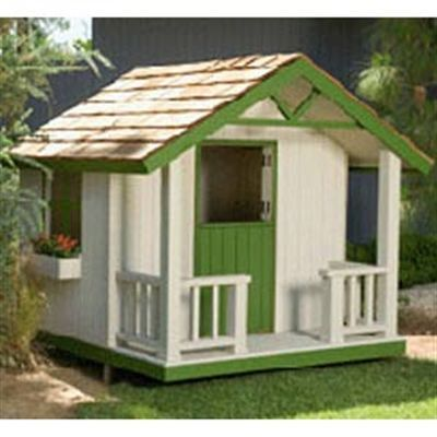 Buy Woodworking Project Paper Plan to Build Cottage Playhouse Plan at Woodcraft.com - Me want this too.