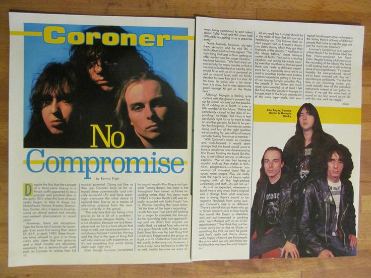 Coroner, Two Page Clipping