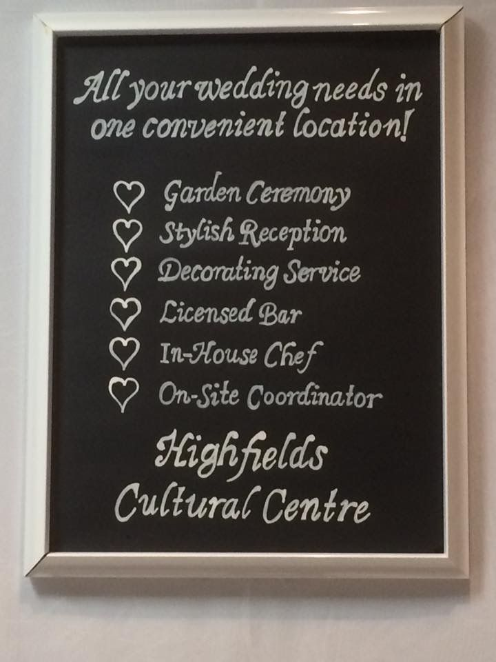 Highfields Cultural Centre, we do it all
