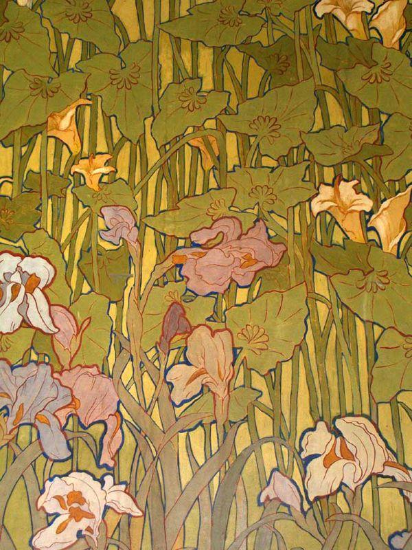Art nouveau   Ettore De Maria Bergler. Росписи Villa Igieа.