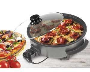 Sarten cazuela Paellera electrica Sogo SS-10070 - D42 cm - P9 cm - Sarten cazuela pizza-pan Plancha eléctrica Paellera SOGO de 42 cm, ideal para paella, barbacoas, deliciosas carnes, pizza. Cuenta con una gran profundidad de 9 cm y una gran resistencia. Termostato con temperatura máxima de 240ºC. Capa anti-adherente Ceracook ® de alta calidad para evitar que su comida se pegue. Fácil Limpieza y Almacenamiento. Tapa de cristal resistente al calor para un mejor control de cocción. Con ella…