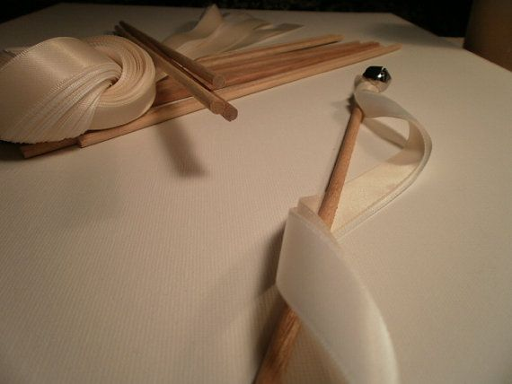 DIY Wedding Wands Ribbon Wands with Silver or a Gold by TenTables