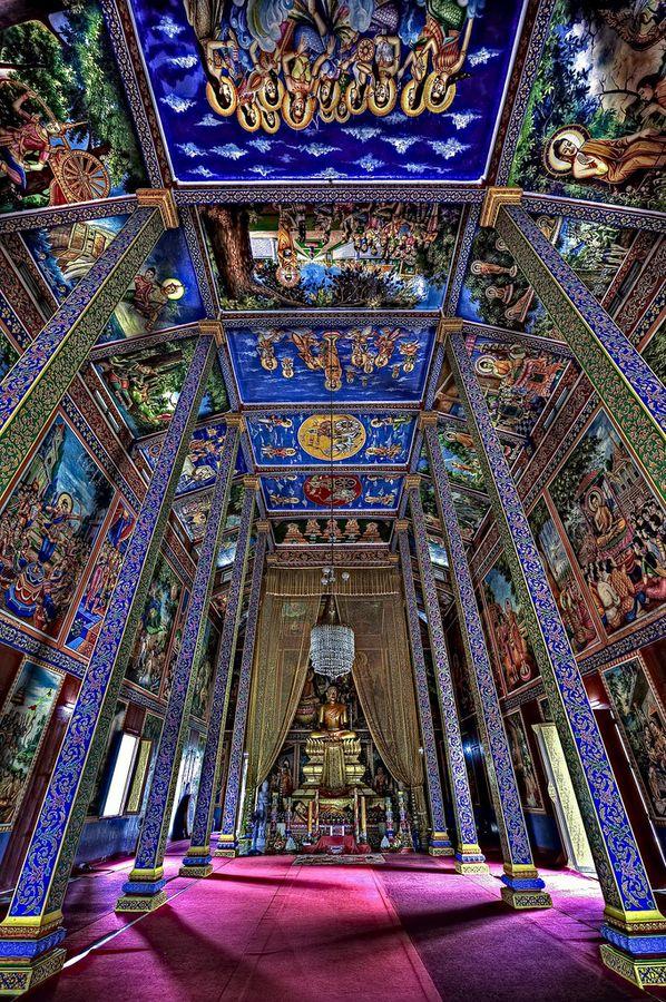 "♂ Travel around the world ""Temple Of Blacklight Buddhism"" by Jon Sheer Phnom Penh, Cambodia, Asian"