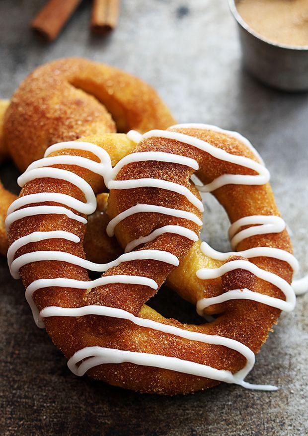 Cinnamon Sugar Pumpkin Soft Pretzels Recipe - RecipeChart.com
