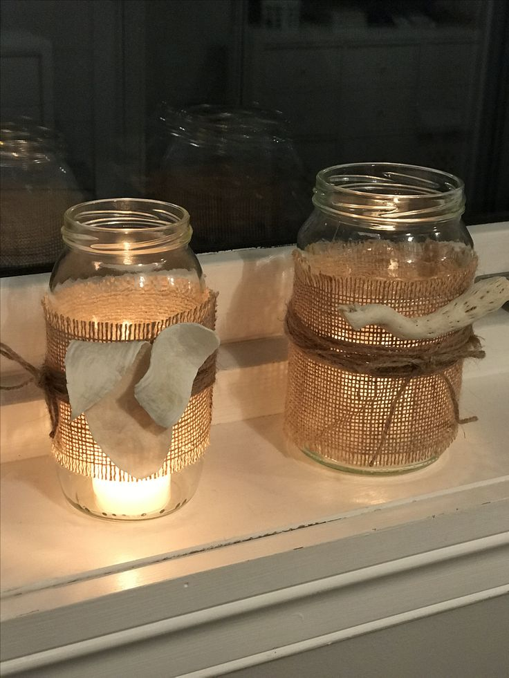 Coastal candle light decoration