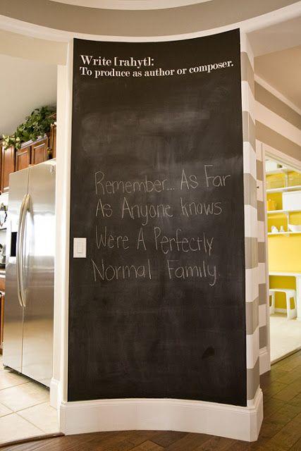 Hallway chalkboard found on 4 Men 1 Lady blog...