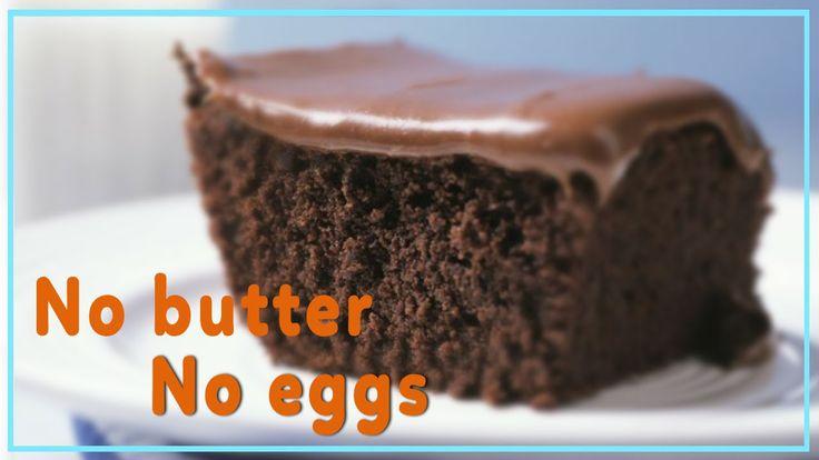 Easy Chocolate Cake Recipe ★ No butter - No eggs ★ Healthy Recipes ★