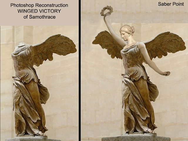 Saberpoint: Photoshop Reconstruction of WINGED VICTORY of Samothrace