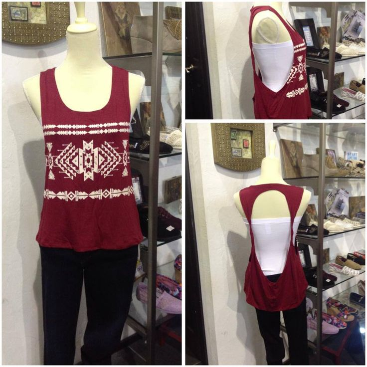 Open back tribal top. Available in White/Black, Crimson/White, and Black/White. These are perfect for OU or OSU game days! only $24.99  www.facebook.com/tigerlilyoklahoma