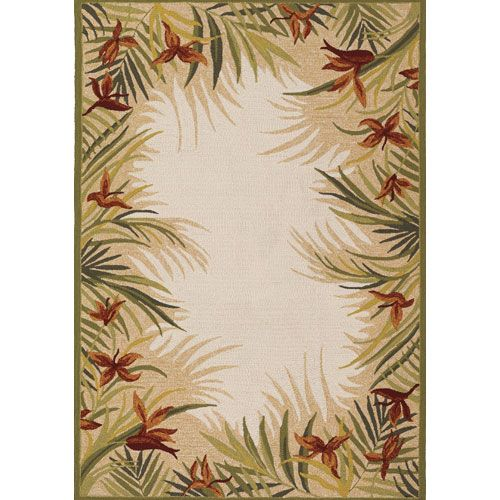 Couristan Covington Tropic Garden Sand Multi 8 Ft X 11 Indoor Outdoor Rectangular Rug