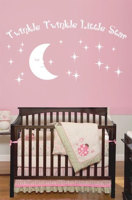 Twinkle Twinkle Little Star Decals Star Nursery by LivingWall