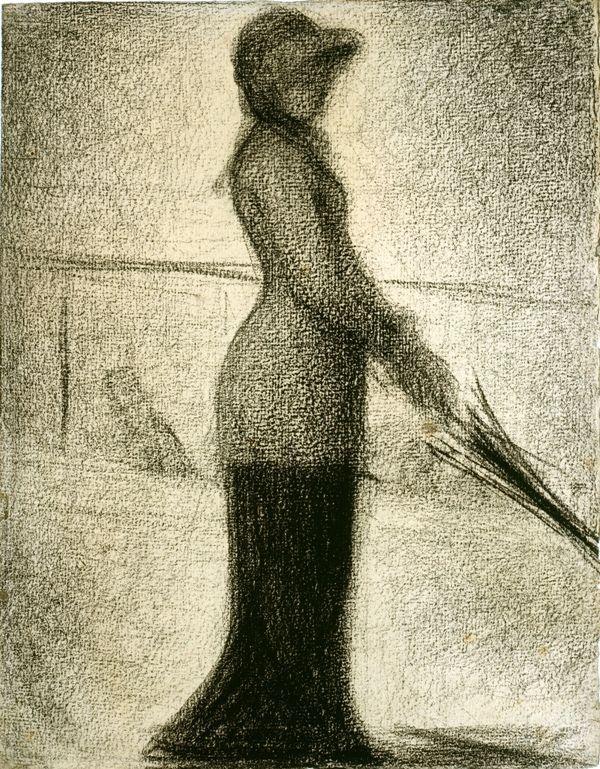 Georges Seurat (1859-1891), Femme à l'ombrelle, um 1884-86.