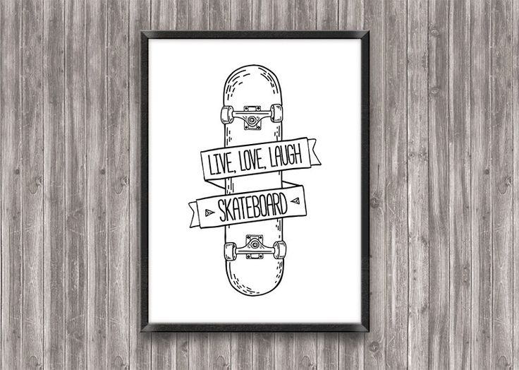 Skateboard Poster, Skateboard Wall art, Boy room decor, Skateboard Prints, Typography Quote, Motivational Poster, Skateboard art by SayWowPrints on Etsy