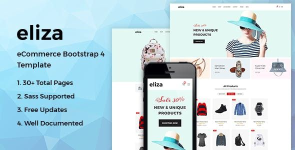 Eliza Ecommerce Bootstrap 4 Template Is A Faster And User Friendly Html5 Template For Your E Store It Is Supper Respon Templates Html5 Templates Blog Layout