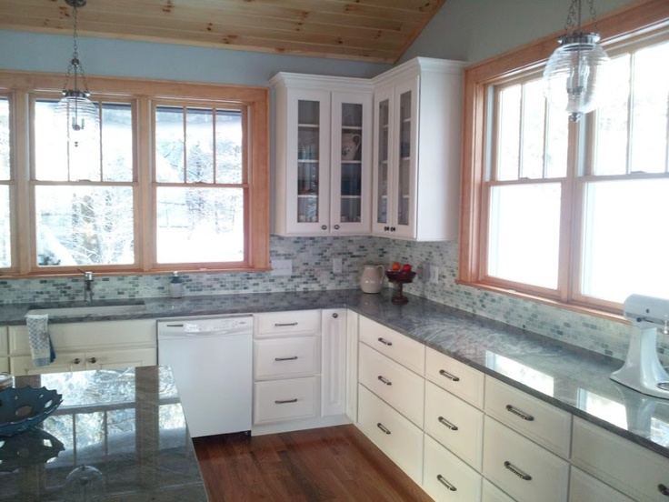 White kitchen cabinets with stained trim  Kitchens Forum