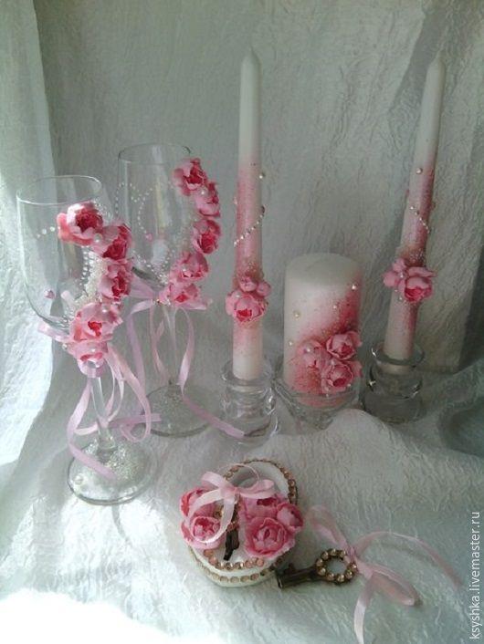 """Купить Свадебный набор """"Нежный пион"""" - розовый, пион, набор свадебный, свадебные аксессуары"""