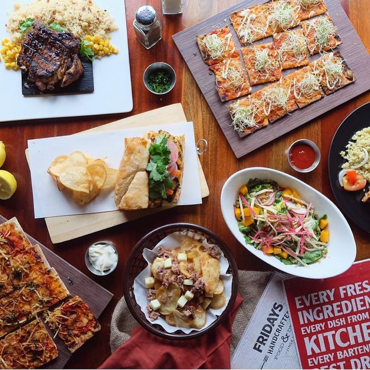 NOW OPEN: T.G.I. Fridays - SM Southmall An American casual dining restaurant that serves an assortment of appetizers steaks salads pasta burgers and more  @thehungrychef # #bookymanila  View its exact location on our app!  Tag your friends who love American cuisine