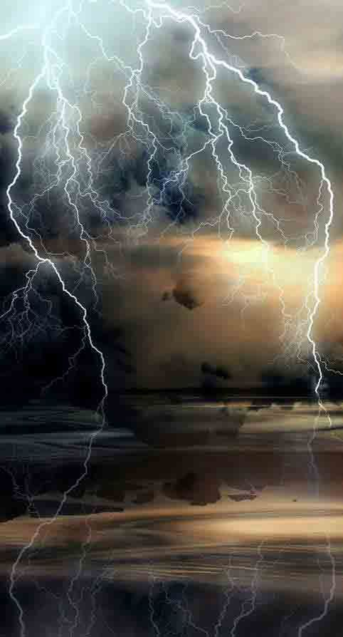 Mother Nature, lightning, thunder storm, landscape, weather, panorama, water, reflections, beautiful, breathtaking, photo.