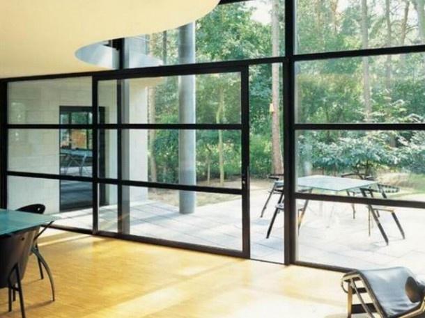 Uitbouw en patio stadstuin | schuifpui 2 delig Door moonwebdesign2012