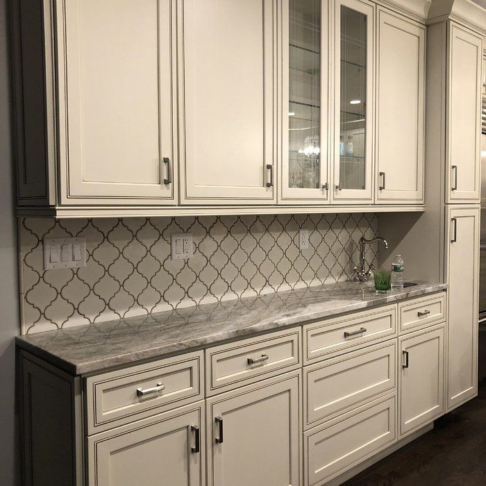 "28 Antique White Kitchen Cabinets Ideas In 2019: Arabesque 5"" X 5"" Ceramic Mosaic Tile In Antique White In"