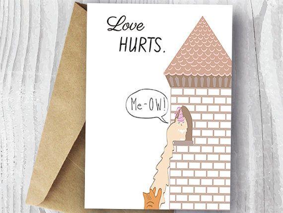 Cat Valentine's Day Card Funny Rapunzel Cat Valentine by miumicat