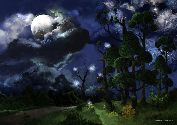 Full image of the illustration Moon and Stars