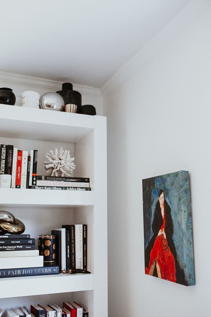 Shelf bookcases memorial wall displays antique white wall display - Slowly Adding Art Bookshelf And Art